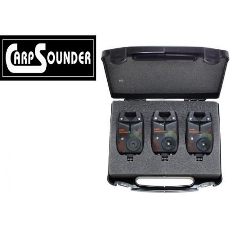 coffret de 3 détecteurs basic camou Carpsounder